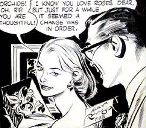 "Alex Raymond - Alex Raymond's Rip Kirby (July 28, 1956), his final strip with Judith Lynne ""Honey"" Dorian."