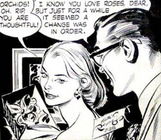 "Alex Raymond - Alex Raymond's Rip Kirby (July 28, 1956), his final strip with Judith Lynne ""Honey"" Dorian."