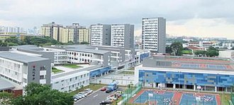 River Valley High School, Singapore - Bird-eye view of River Valley High School Campus