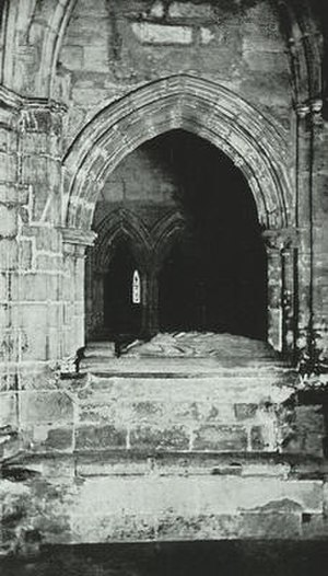 Robert Wishart - Wishart's tomb in the crypt of Glasgow Cathedral