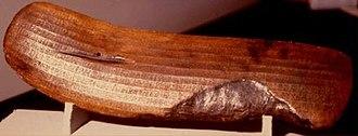 Rongorongo text H - Image: Rongorongo H r Large Santiago (color)