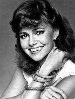 Black-and-white publicity photo of Sally Field in 1981.