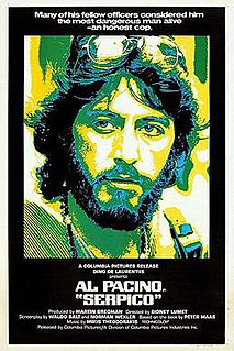 <i>Serpico</i> 1973 American crime drama film directed by Sidney Lumet