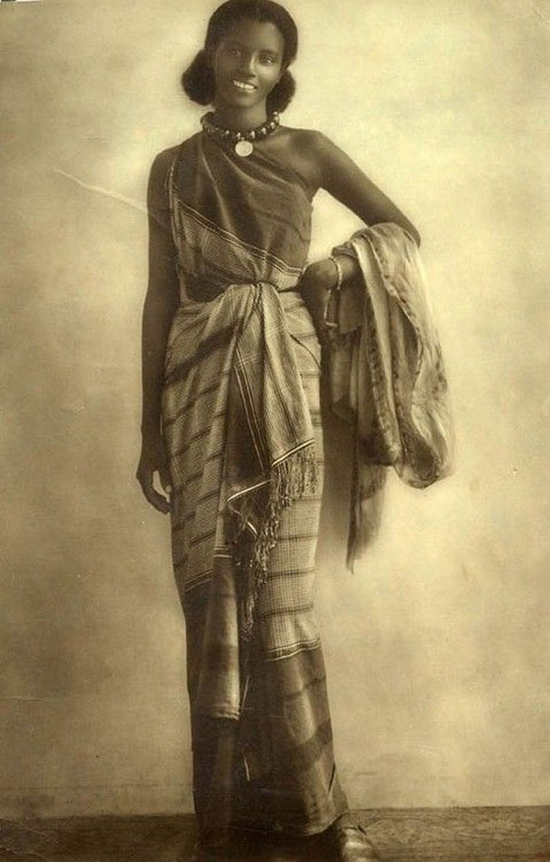 Somali woman in traditional dress Circa 1940