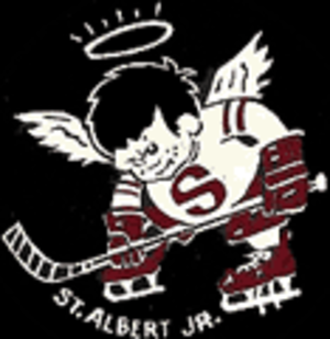 St. Albert Saints - The Saints' old logo until the 1989 season.