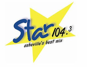 WQNQ - Star 104.3's former logo from approximately 2005 to April 2015. The current logo adopts the KISS-FM fonts.