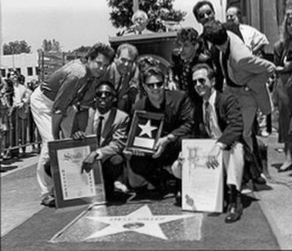 Steve Miller Band - Receiving their Walk of Fame star.