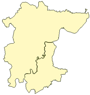 Borough of Stockton-on-Tees - The borough with the county boundary (the River Tees) shown