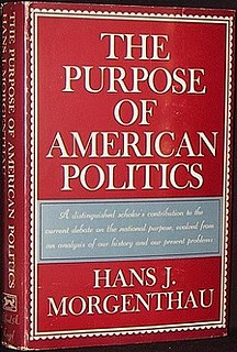 book by Hans Morgenthau