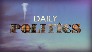 Daily Politics - Title card (as of January 2012)