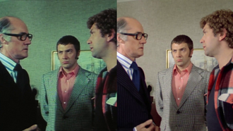 The Professionals (TV series) -  Re-mastered by Network Distributing - left - original footage, right - re-mastered footage.