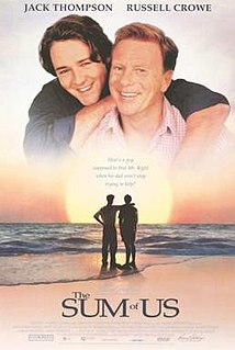 <i>The Sum of Us</i> (film) 1994 film by Kevin Dowling