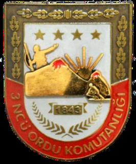 Third Army (Turkey) Field army of the Turkish Army located in Erzurum