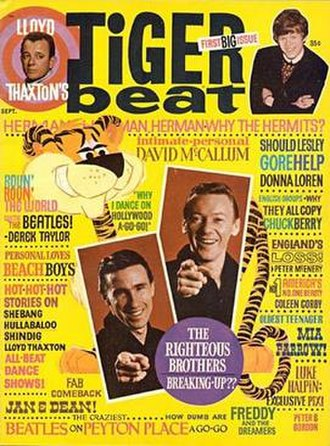 Tiger Beat - Tiger Beat magazine, first issue