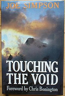 <i>Touching the Void</i> (book) 1988 book by Joe Simpson