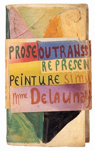 1913 in poetry - Cover of Blaise Cendrars' La prose du Transsibérien et de la Petite Jehanne de France