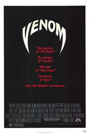 Venom (1981 film) - US theatrical release poster