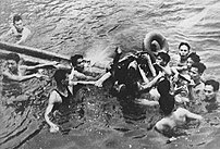 John McCain being pulled out of Truc Bach Lake...