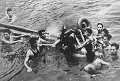 John McCain being pulled out of Truc Bach Lake in Hanoi and about to become a prisoner of war. October 26, 1967.