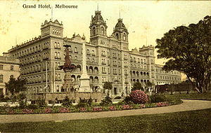 Hotel Windsor (Melbourne) - Grand Hotel and Spring Street in 1906