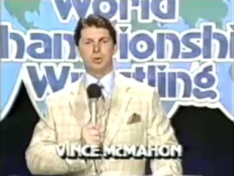 Black Saturday (professional wrestling) - Vince McMahon appears on TBS Superstation to announce the World Wrestling Federation's takeover of the World Championship Wrestling program.