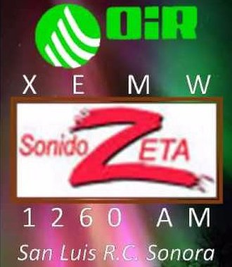 XEMW-AM - Image: XEMW Sonido Zeta 1260 logo