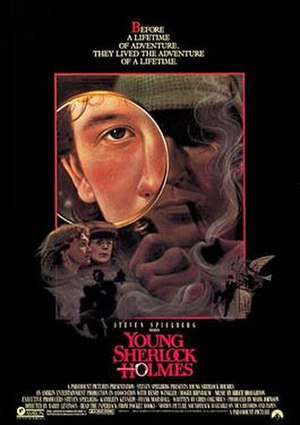 Young Sherlock Holmes - Theatrical release poster