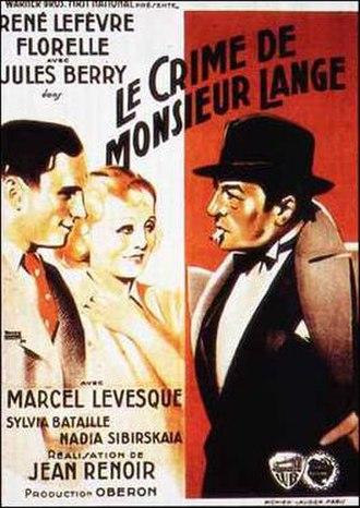 The Crime of Monsieur Lange - Image: 1936 Le crime de Monsieur Lange