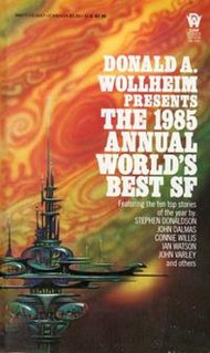 <i>The 1985 Annual Worlds Best SF</i> book by Donald A. Wollheim