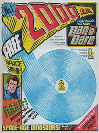 2000 AD (comics) - Cover of the first issue of 2000 AD, 26 February 1977.