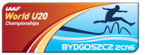 2016 IAAF World U20 Championships - Image: 2016 World U20 Championships logo