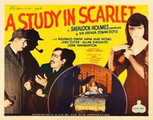 A Study in Scarlet (1933 film) - Image: A Study in Scarlet (1933 film)