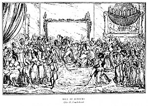 Almack's - After Cruikshank's view of the ballroom