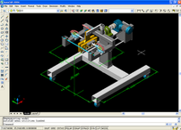 A screenshot of AutoCAD, Autodesk's flagship product.