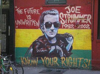 Joe Strummer - Memorial to Strummer on 7th Street at Avenue A, New York City