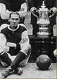 Frank Barson with the FA Cup