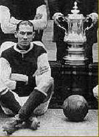 Frank Barson - Barson with his only major footballing honour the FA Cup, in 1920.