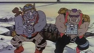 Bebop and Rocksteady - Rocksteady and Bebop in the original 1987 animated series.