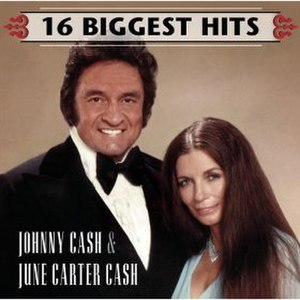 16 Biggest Hits (Johnny Cash and June Carter Cash album) - Image: Cash 16Biggest