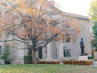 Western Kentucky University - A statue of Dr. Henry Hardin Cherry, WKU's founder, stands at the top of The Hill, in front of Cherry Hall