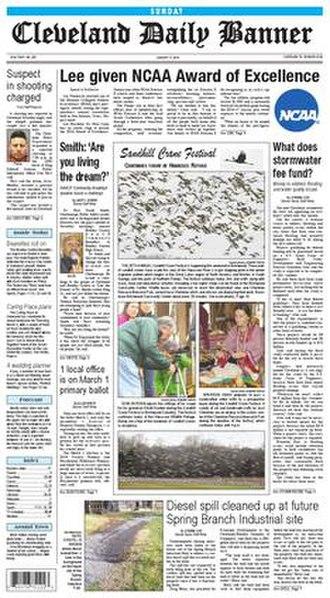 Cleveland Daily Banner - Image: Clevelandbanner 2016 1 17