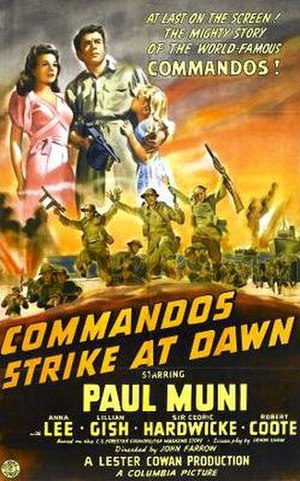 Commandos Strike at Dawn - Image: Commandos strike at dawn poster