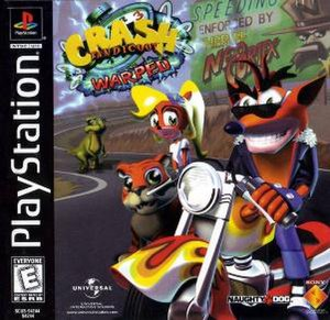 Crash Bandicoot: Warped - North American box art