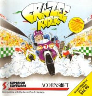 "Crazee Rider - Acorn Electron 3.5"" disk inlay"