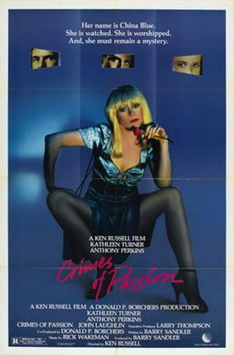Crimes of Passion (1984 film) - Theatrical release poster