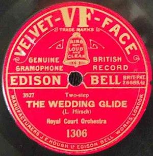 Edison Bell - Edison Bell Velvet Face record label