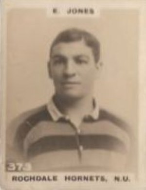 Ernest Jones (rugby league) - Godfrey Phillips Cigarette card featuring Ernest Jones