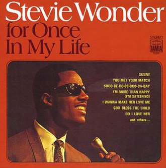 For Once in My Life (Stevie Wonder album) - Image: Foronceinmylife