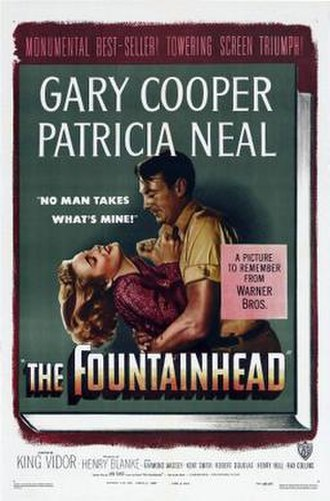 The Fountainhead (film) - Theatrical release poster
