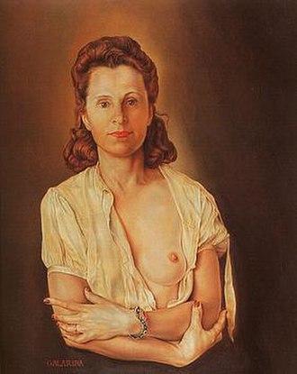 Gala Dalí - Salvador Dalí, Portrait of Galarina (1940–45)